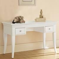 Walnut Street White Writing Desk