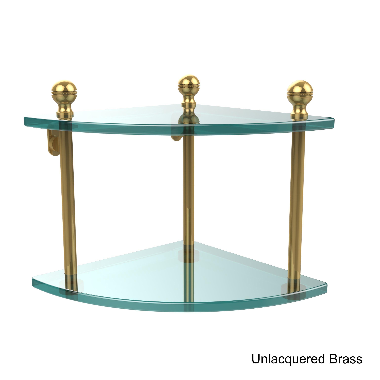 Allied Brass Mambo Collection 2-tier Corner Glass Shelf | eBay