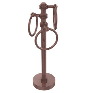 Allied Brass Vanity Top 3-towel Ring Guest Towel Holder With Dotted Accents