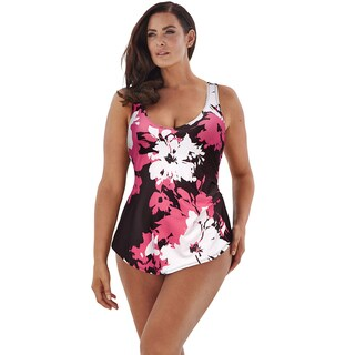 Beach Belle Petunia Sarong Front Swimsuit