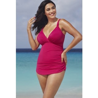 Shore Club Pitaya Plunge Sarong Front Swimsuit