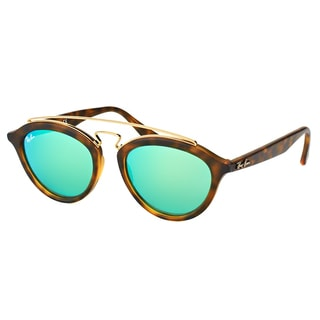 Ray-Ban RB 4257 60923R Gatsby II Matte Havana Plastic Fashion Sunglasses with Green Mirror Lens