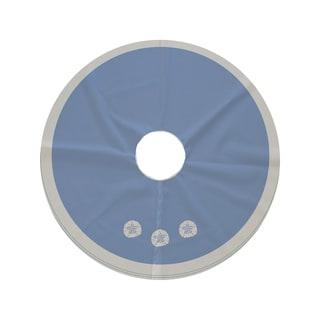 44-inch Round Sanddollar Geometric Print Tree Skirt
