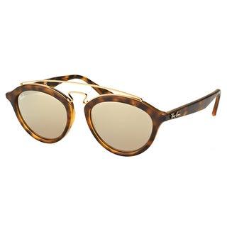 Ray-Ban RB 4257 60925A Gatsby II Matte Havana Plastic Fashion Sunglasses with Gold Mirror Lens