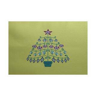 5 x 7-Feet Beach Tree Geometric Print Indoor/Outdoor Rug