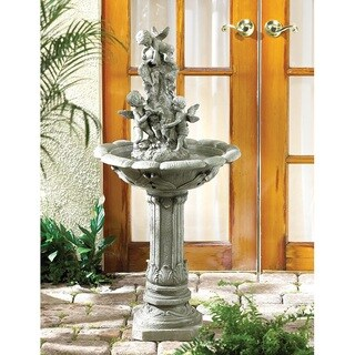 Filey Grey/Green Glass/Synthetic Fiber/Resin Upright Water Fountain