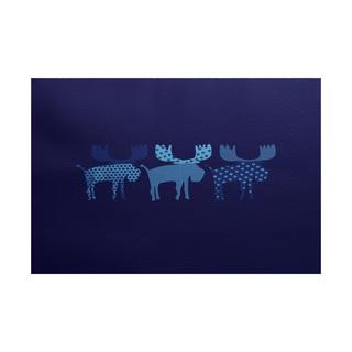 5 x 7-Feet Merry Moose Animal Print Indoor/Outdoor Rug