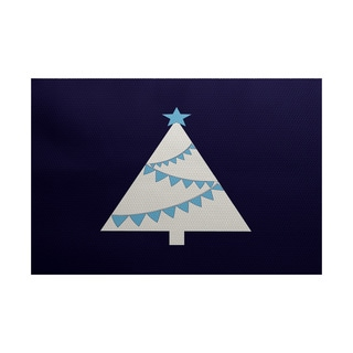 5 x 7-Feet Garland Tree Geometric Print Indoor/Outdoor Rug