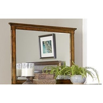 Cotswold Grove Mirror - Brown Oak