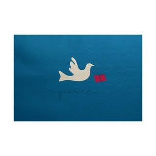 5 x 7-Feet Peace Dove Animal Print Indoor/Outdoor Rug