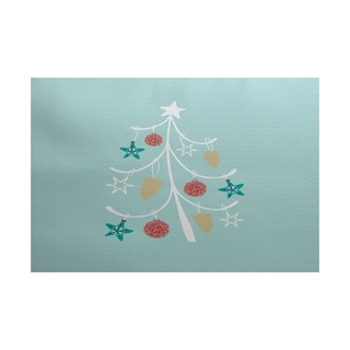 5 x 7-Feet Pinecone Tree Geometric Print Indoor/Outdoor Rug