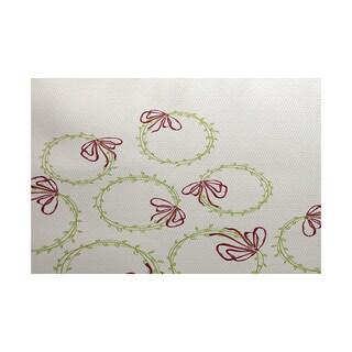 5 x 7-Feet Simple Wreath Geometric Print Indoor/Outdoor Rug