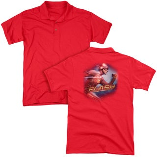 The Flash/Fastest Man (Back Print) Mens Regular Fit Polo in Red