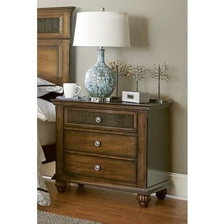 Cotswold Grove P111-43 Oak Finish MDF and Rubberwood 30-inch x 18-inch x 29-inch Night Stand