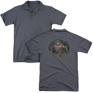 Watchmen/Nite Owl (Back Print) Mens Regular Fit Polo in Charcoal