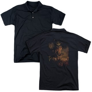 Trick R Treat/Movie Poster (Back Print) Mens Regular Fit Polo in Black