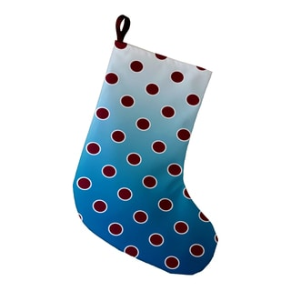 9 x 16-inch Holiday Bubbly Geometric Print Stocking