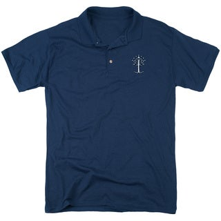 Lord Of The Rings/Embroidered Tree Mens Regular Fit Polo in Navy