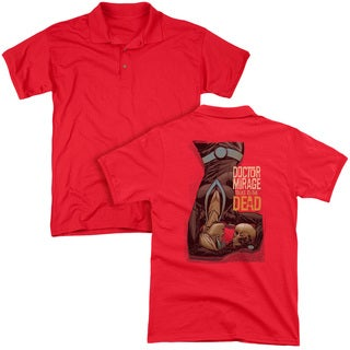 Doctor Mirage/Talks To The Dead (Back Print) Mens Regular Fit Polo in Red