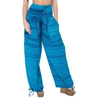 La Leela Soft Rayon Lightweight Women Plush Lounge Nightwear Pajama Pants Teal