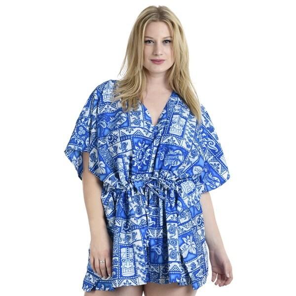 dfe787ade5fbc Shop La Leela 2-in-1 Women s Blue Perfect Beach Bikini Swimsuit Plus ...