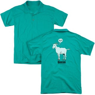 Quantum and Woody/Meh (Back Print) Mens Regular Fit Polo in Kelly Green