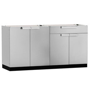 NewAge Products Aluminum/Stainless Steel 64-inch x 24-inch 2-piece Outdoor Kitchen Storage