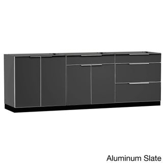NewAge Products Aluminum/Stainless Steel 96-inch x 24-inch 3-piece Outdoor Kitchen Storage (2 options available)