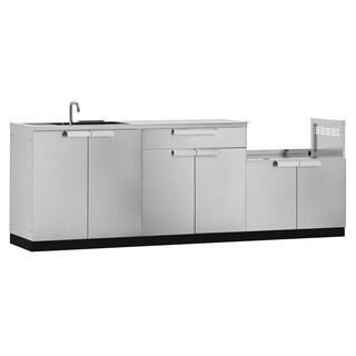 NewAge Products Stainless Steel/Aluminum 97-inch x 24-inch 4-piece Outdoor Kitchen Storage