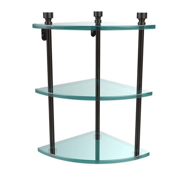 Allied Brass Foxtrot Collection Brass/Glass Three-tier Corner Wall ...