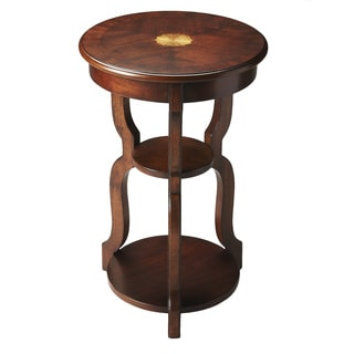 Handmade Butler Hourglass Cherry End Table (China)