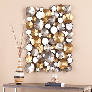 The Curated Nomad Sybil Metal Wall Sculpture - Gold/Silver