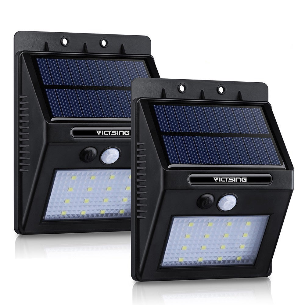Coutlet Solar-powered Black Outdoor Motion Sensor Garden ...
