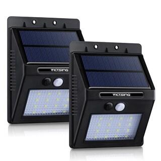 Solar-powered Black Outdoor Motion Sensor Garden Light (Pack of 2)