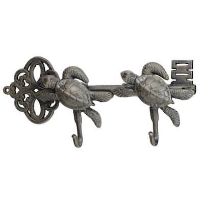 Iron Turtles 15.5-inch x 2.5-inch x 7-inch Wall Hook
