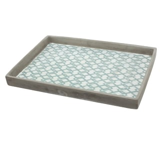 Classic Grey Wood 12.5-inch x 9-inch Winston Serving Tray