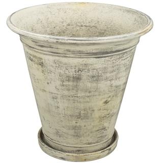 Capitolla Antique White Cement 14-inch x 14-inch Planter