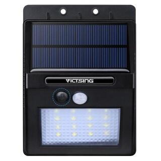 Black ABS/ Plastic Garden Security 320-lumen 16-LED Solar-powered Motion-sensor Outdoor Lamp with Diamond Lampshade