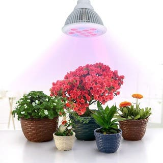 White Aluminum 36-watt Newest LED Full 3 Bands Growing Combination Plant Bulbs for Garden Greenhouse and Hydroponic|https://ak1.ostkcdn.com/images/products/11981981/P18863307.jpg?impolicy=medium