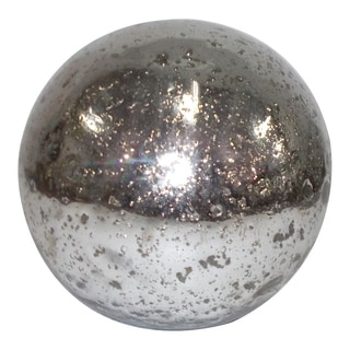 Decorative Silver Glass Garden Orb