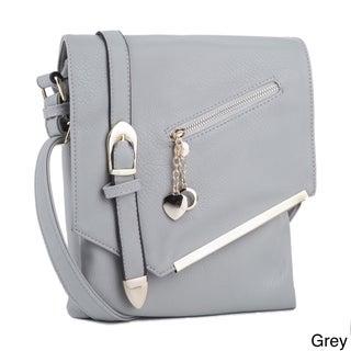 MKF Collection Jasmine Crossbody Shoulder Bag by Mia K. Farrow (Option: Grey)