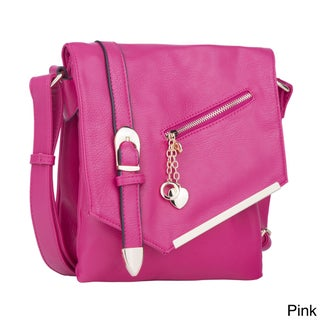 MKF Collection Jasmine Crossbody Shoulder Bag by Mia K. Farrow (Option: Pink)