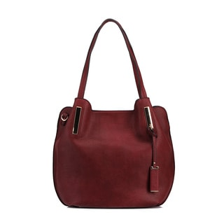 MKF Collection Chatty Faux Leather Shoulder Tote