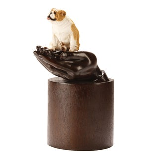 Canneto My Companion Resin Pet Urn with Bulldog Fawn