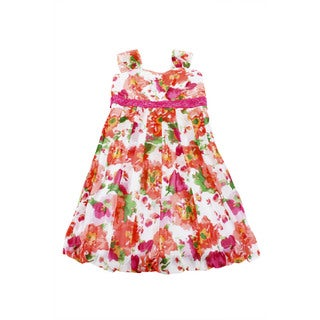 Speechless Girls' Pink Knee-length Dress