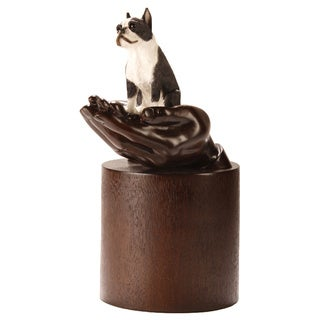 Companion Pet Brown Resin Boston Terrier Urn