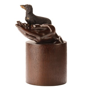 Companion Pet Urn with Black Dachshund
