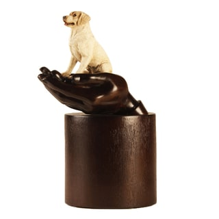 Urn by Canneto Yellow Labrador Retriever Brown Resin Companion Pet Urn