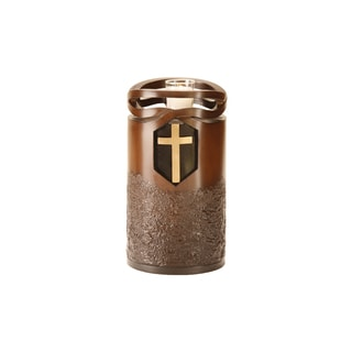 Canneto Urns Wood-finish Infinity Cross Memorial Art Urn