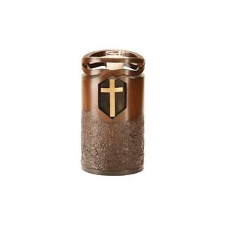 Canneto Urns Wood-finish Infinity Cross Memorial Art Urn